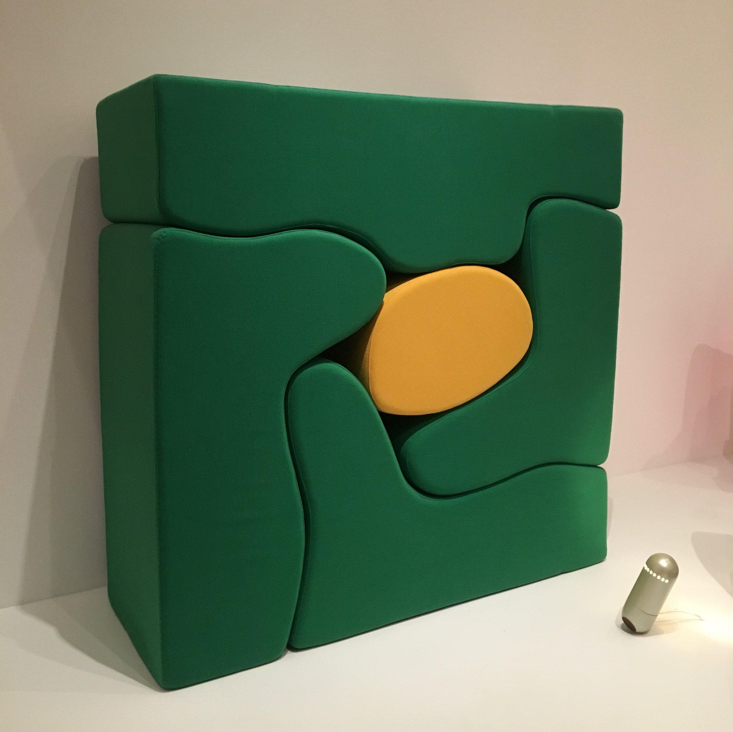 Roberto Matta, Malitte Lounge Furniture, 1966, Gavina, Italy, Wool and polyurethane foam, Object number 473.1970.a-e