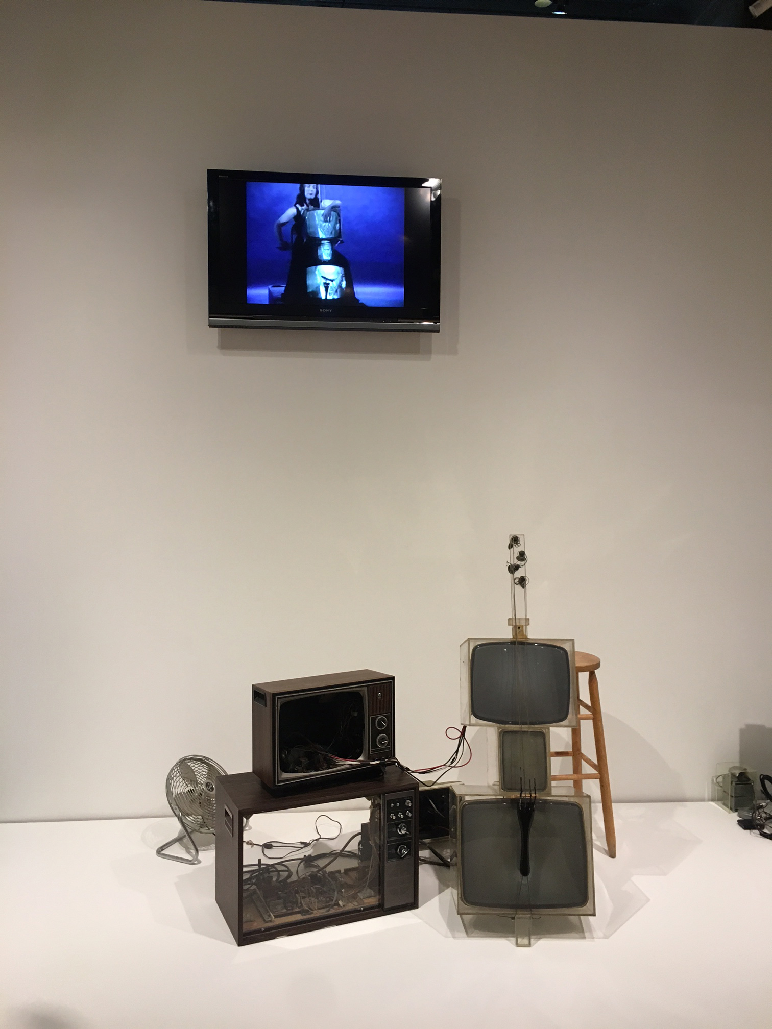 TV Cello, 1971, Nam June Paik (American, born Korea, 1932-2006) Video tubes, TV chassis, Plexiglas boxes, electronics, and wiring. Collection Walker Art Center, Minneapolis. T. B. Walker Acquisition Fund, 1992. Formerly collection of Otto Pienne and Elizabeth Goldring, Massachusetts.