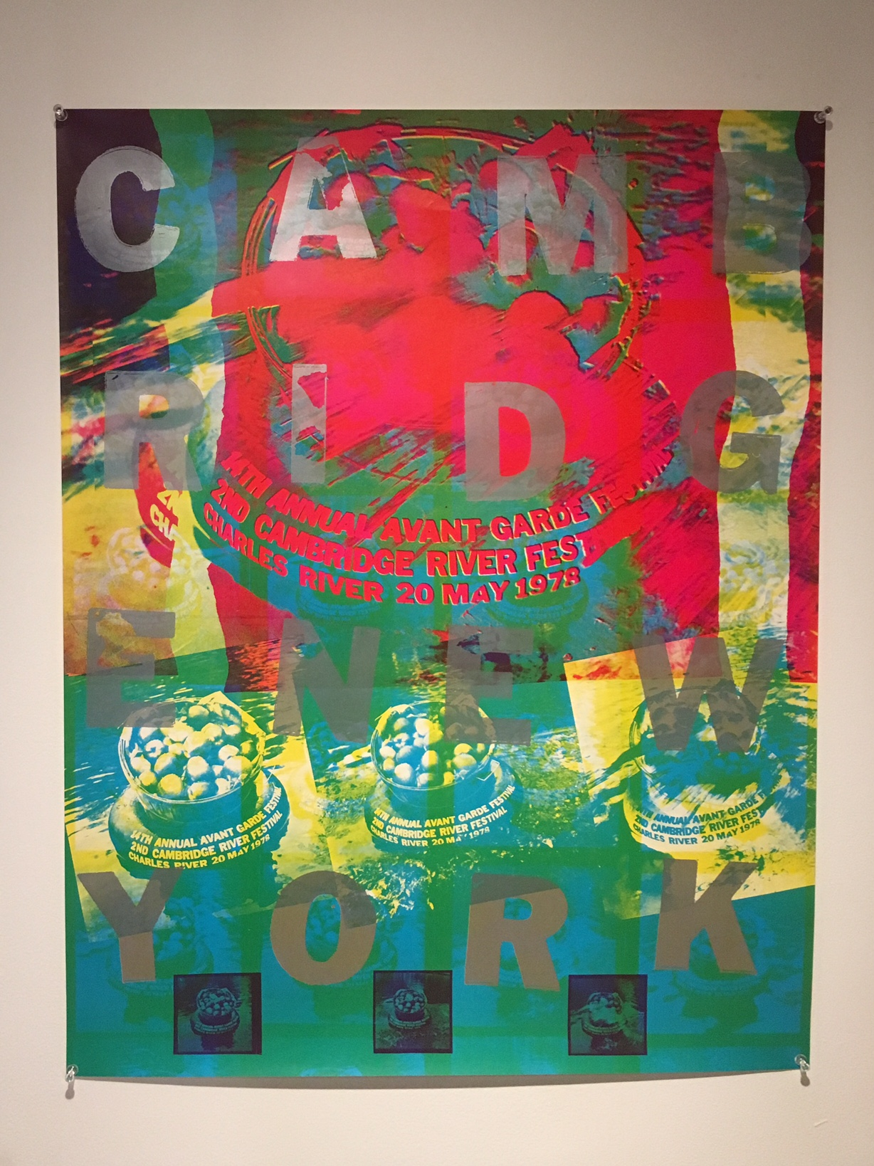 Poster for the 14th Annual New York Avant Garde Festival, Cambridge, Massachusetts, May 20, 1978, Offset lithograph on paper, Courtesy Barbara Moore.