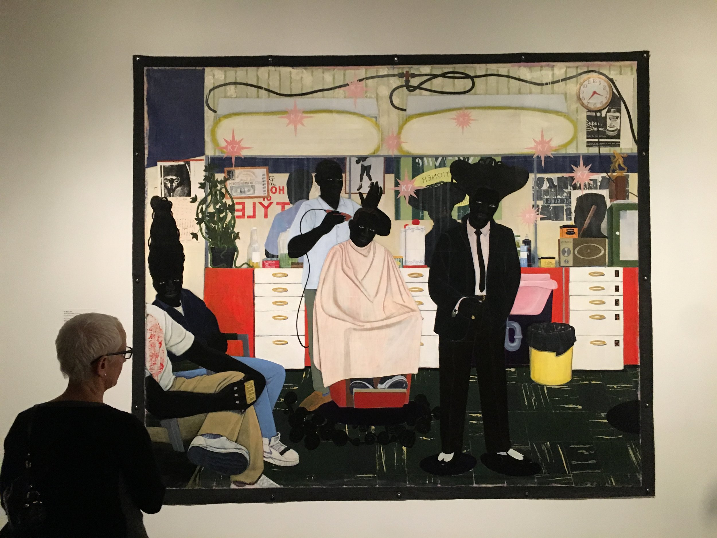 De Style (1993), Acrylic and collage on canvas, Los Angeles County Museum of Art, Purchased with funds provided by Ruth and Jacob Bloom