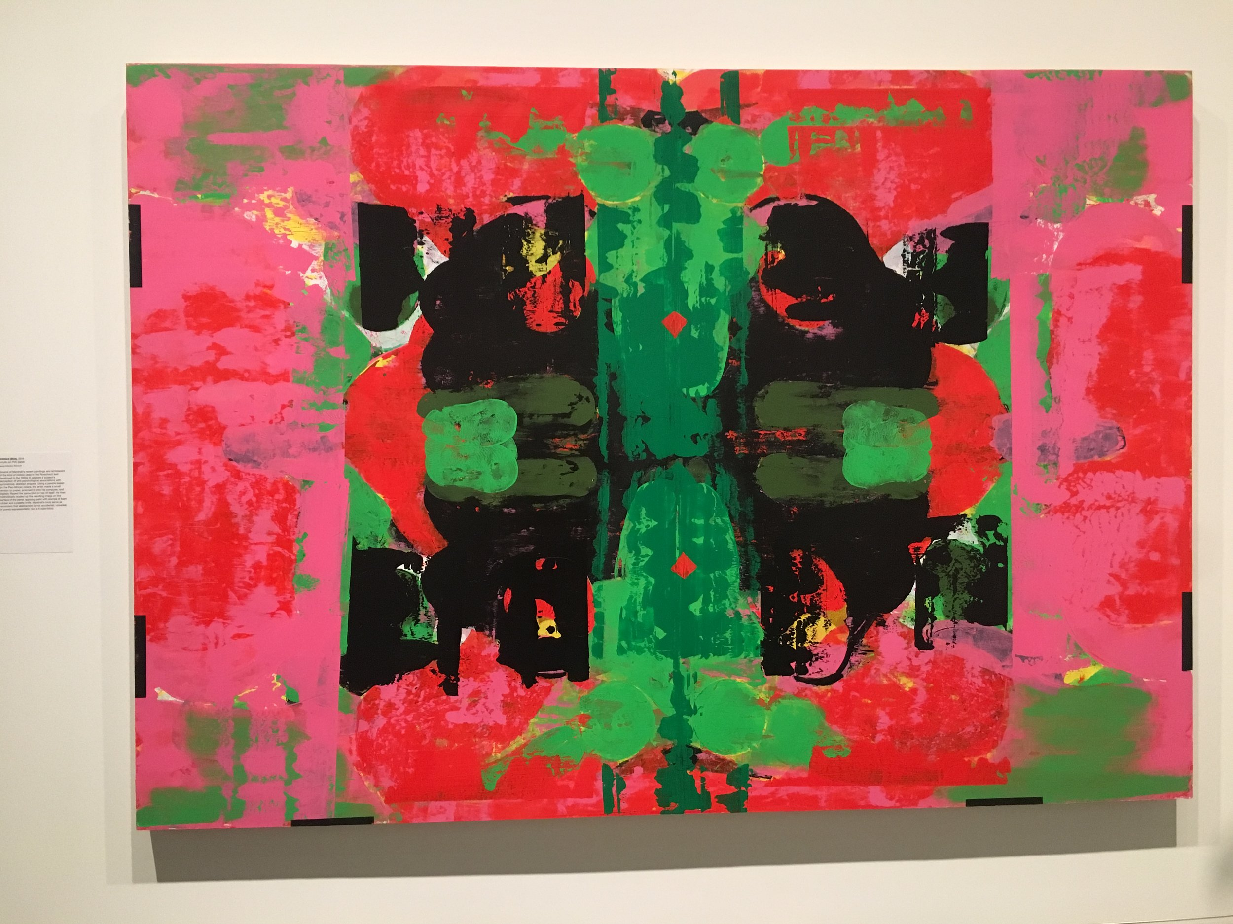 Untitled (Blot), 2015, Acrylic on PVC panel, Collection of Guy Laliberte