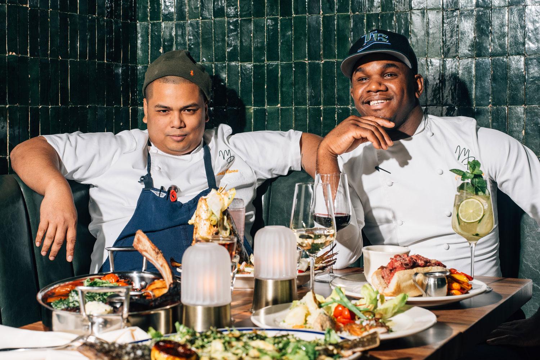 Executive  Chef Glenroy Brown and  Chef de Cuisine Harold Villarosa