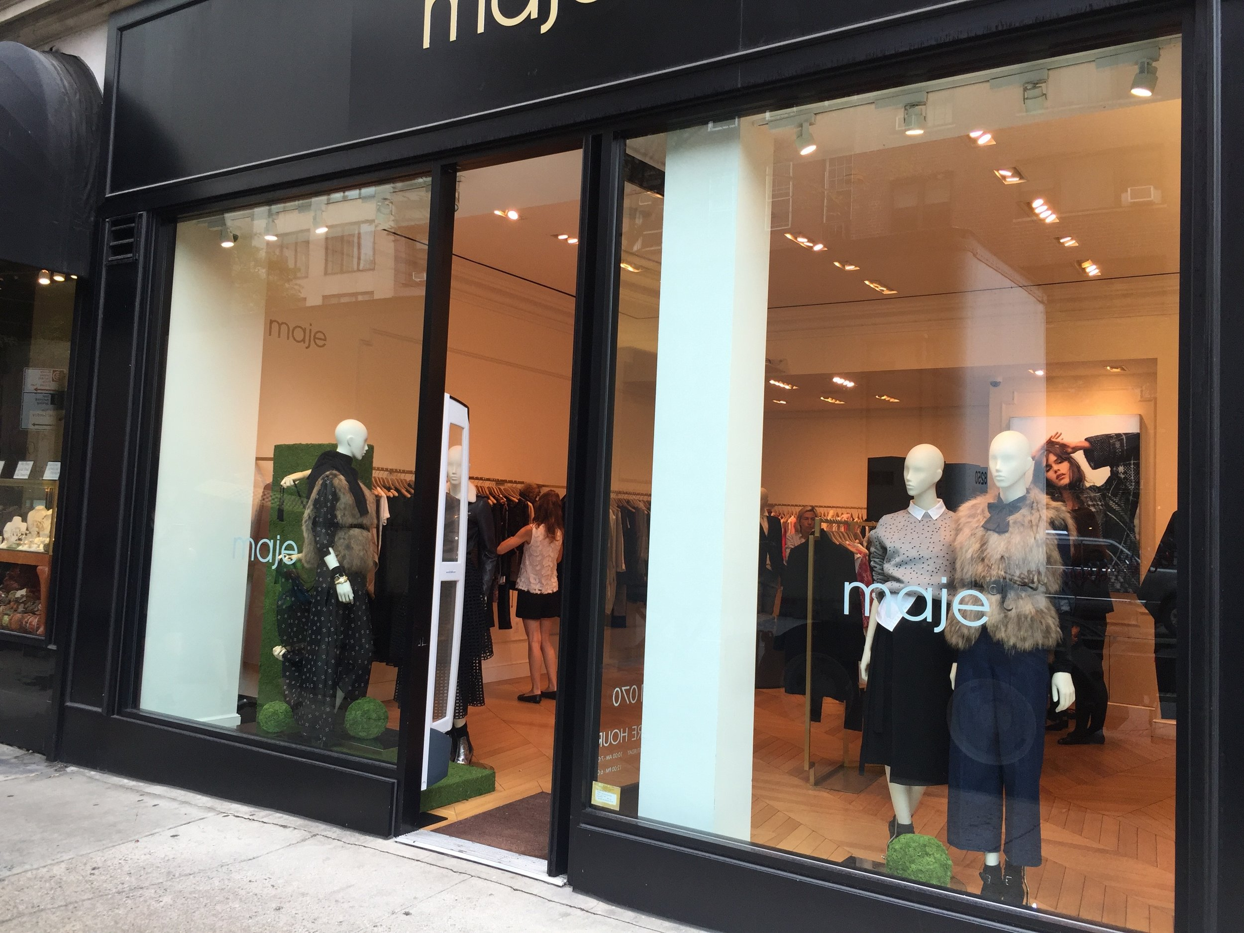 Madison Avenue Fashion Week windows. 2015