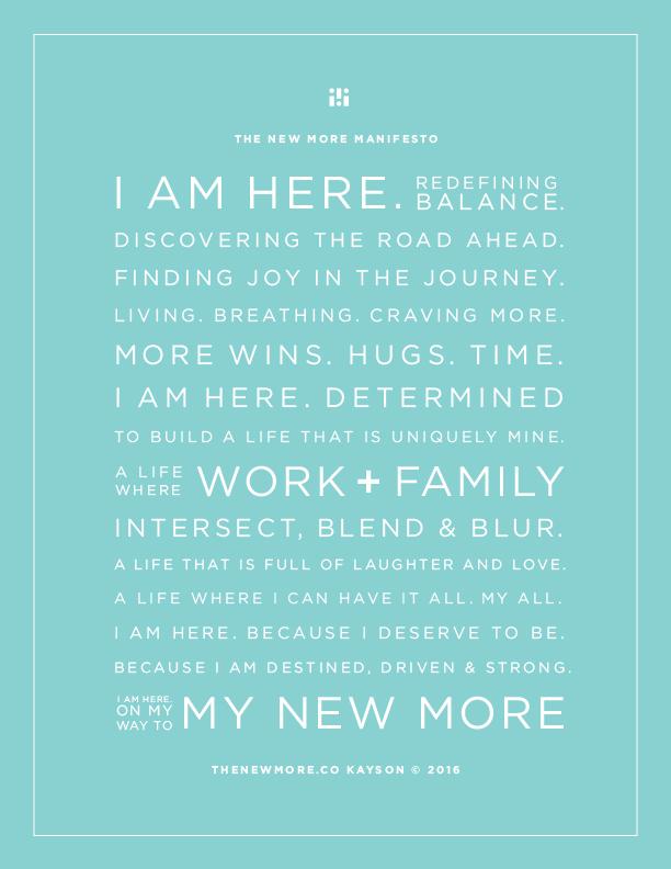 The New MORE Manifesto