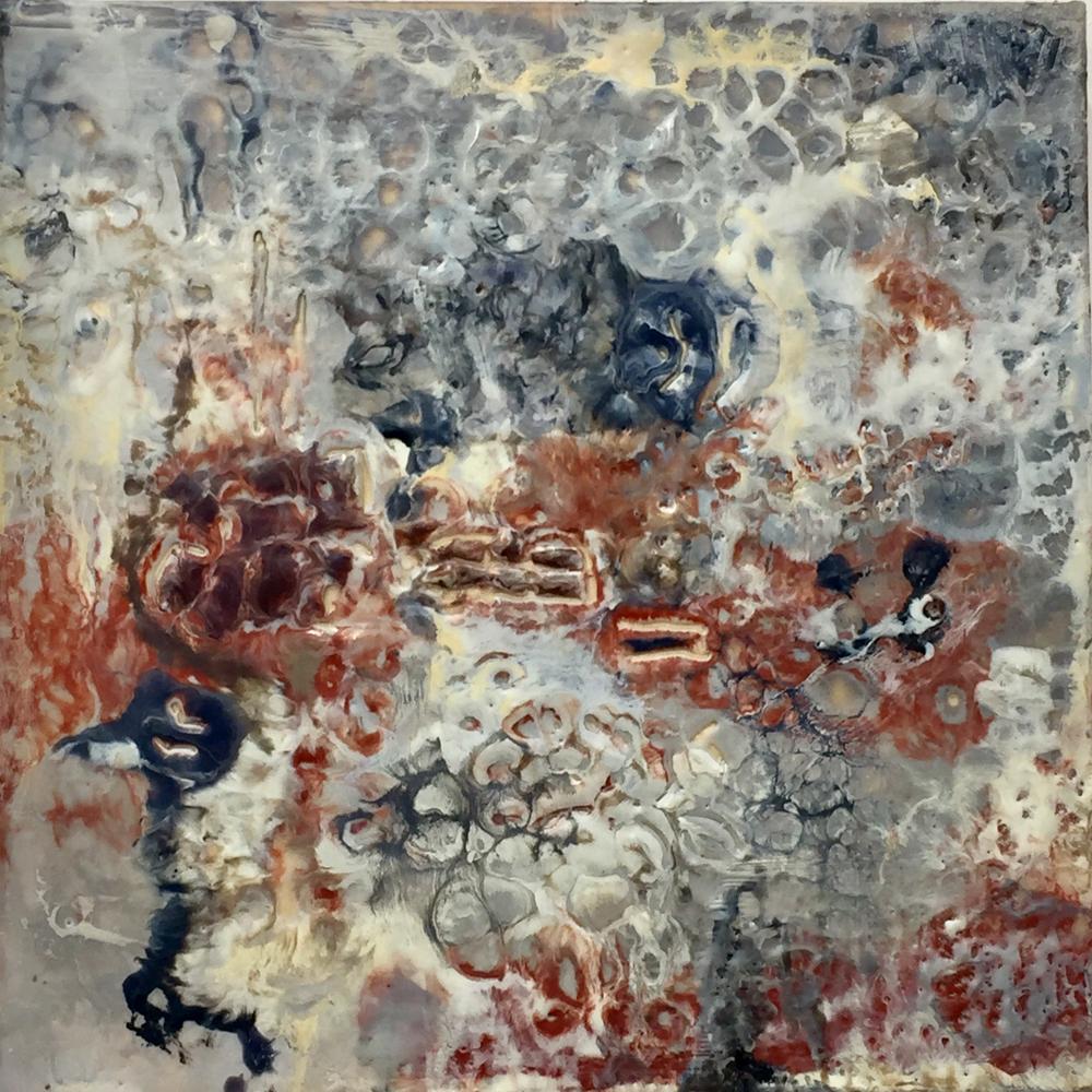 """""""Sant Antoni"""" . 8""""x8"""" . encaustic on wood"""