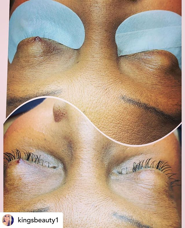 Look at this amazing work by @kingsbeauty1 ! What a transformation! Call the salon at 336-727-4805 to book your appointment! #lashes #lashextensions #downtownwinstonsalem