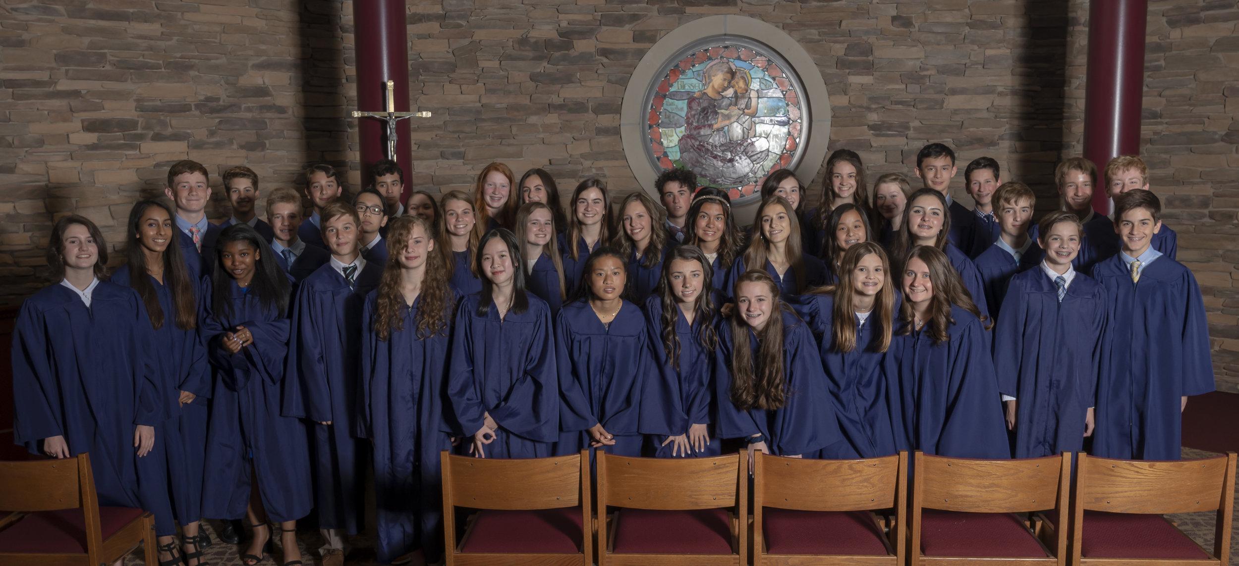 The Class of 2019. Photo courtesy of Parishioner Jerry Wojcik of Jerome Photography.