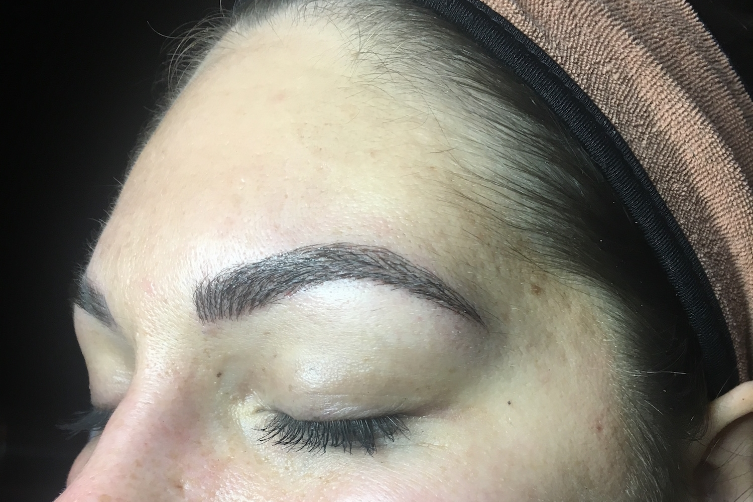 Pure Luxe client after Microblading