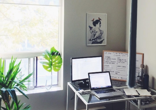 elise darma freelancer home office