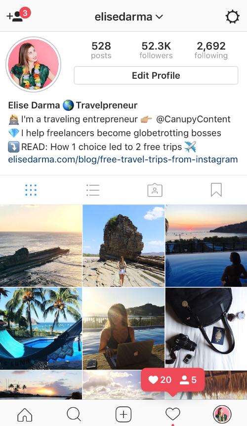 Elise Darma Instagram