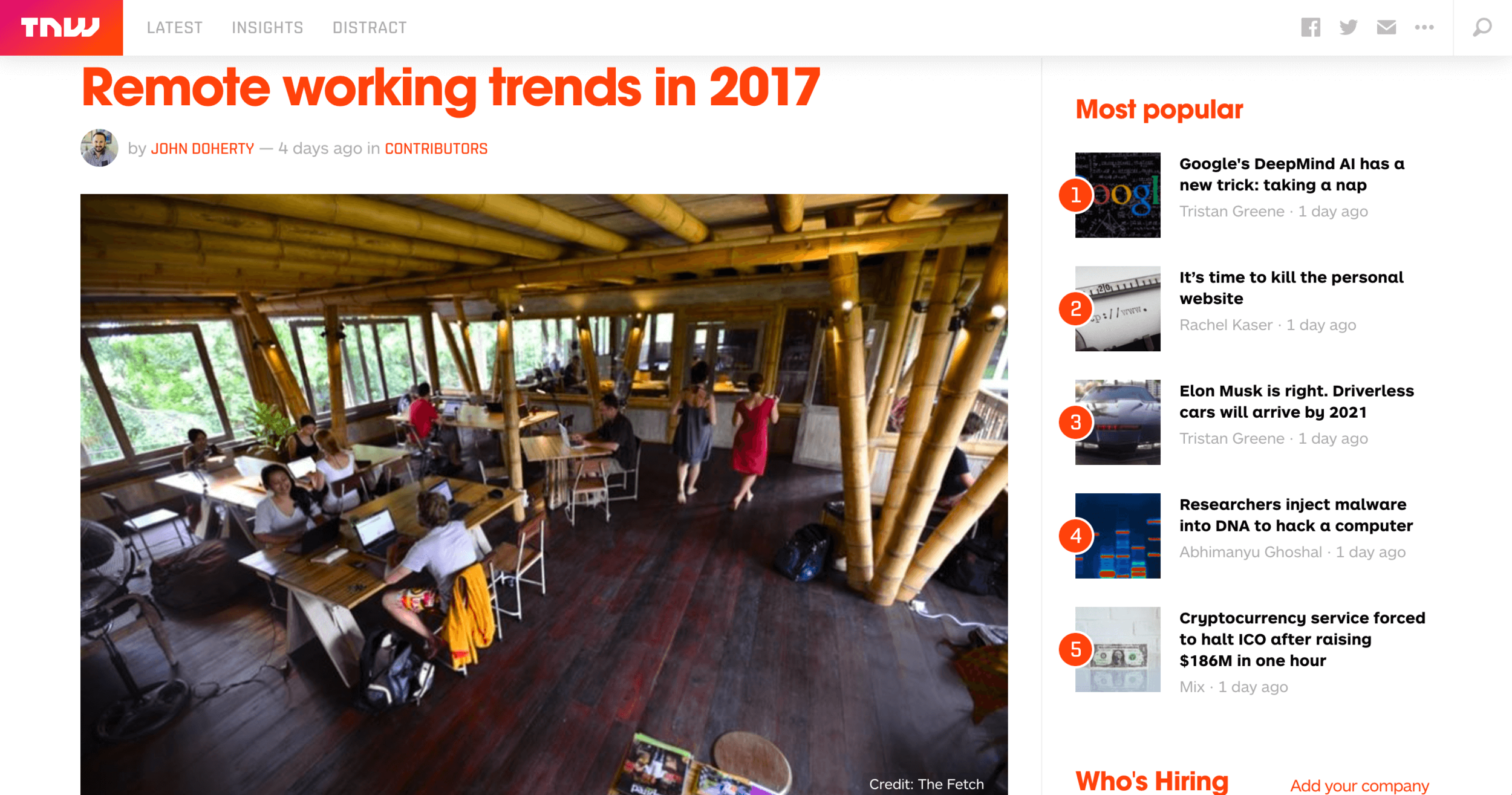 The Next Web Remote working trends in 2017 Elise Darmanin Canupy