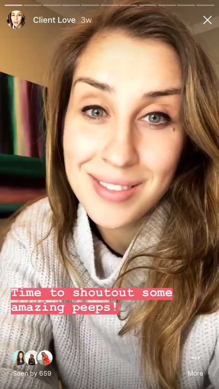 elise darma - instagram story highlights - client love.PNG