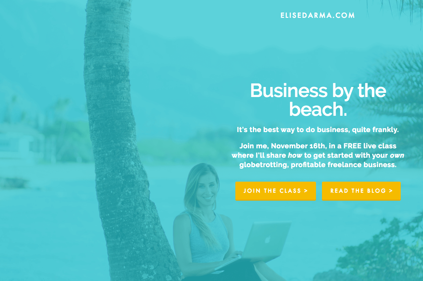 You're getting a super exclusive sneak peek… at my first ever website. Yes - you're thanking my business coach now, too, right?