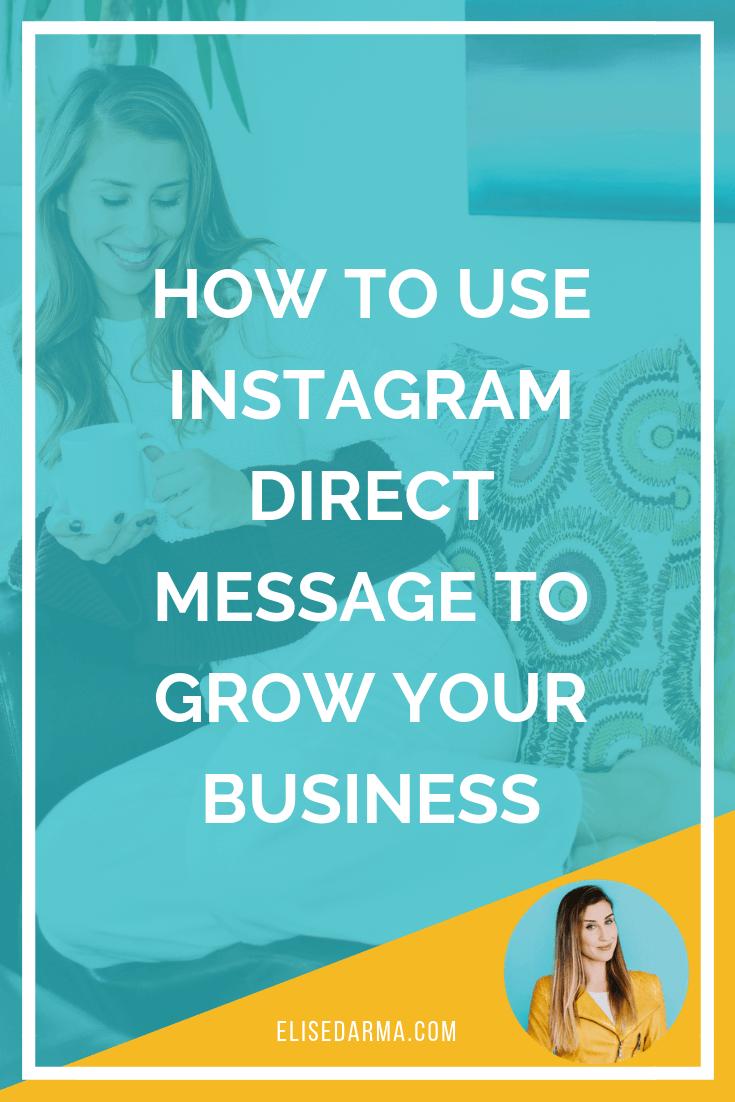direct messages business elise darma instagram dm