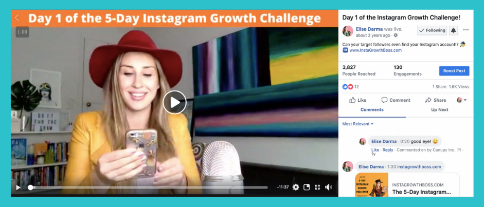 This challenge beefed up my email list by 750 people!