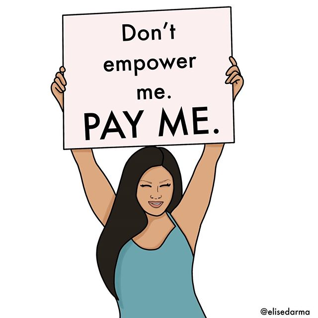 This is for any woman who's been passed up for a raise at her job.�⠀ �⠀ For any female founder in tech who's been passed up for VC funding (where 98% of $97 billion went to male-led companies last year).��⠀ �⠀ For any female freelancer who was asked to do more work for the same pay.��⠀ �⠀ For any female entrepreneur who didn't raise her prices after two years in business or didn't ask for the sale because… fear.��⠀ �⠀ I'm a big advocate for women making money. Good money.��⠀ �⠀ I shared monthly income reports last year so that other women could see what I was charging… to see what's possible.�⠀ �⠀ This was one tiny way I could contribute to levelling the playing field.��⠀ �⠀ It's #WomensEqualityDay and these are the words that inspired this lovely piece of art by @stephaniechinnart.�⠀ �⠀ ���'� ������� ��. ��� ��.��⠀ �⠀�⠀ 💕 Hit the paper airplane button and share in your Stories if you're feeling this message today.�⠀ .�⠀ .�⠀ .�⠀ .�⠀ .�⠀ #instagrowthboss #sosheslays #womensreality #girltalk #makeastand #bettertomorrow #elisedarma #truthquotes #powerfulwords #quotesonlife #youarefabulous #womenbusiness #divinefeminine #bossmoves #startingabusiness #queenssupportqueens #motivatedwomen #businessinfluencer #businesswomanlife #smallbusinesslove #smallbusinesslife #womanownedsmallbusiness #womenoftheworld #fearlessfemale #ladypreneurs #abundantbossbabes #womenhood #girlleaders #womenstrong�⠀