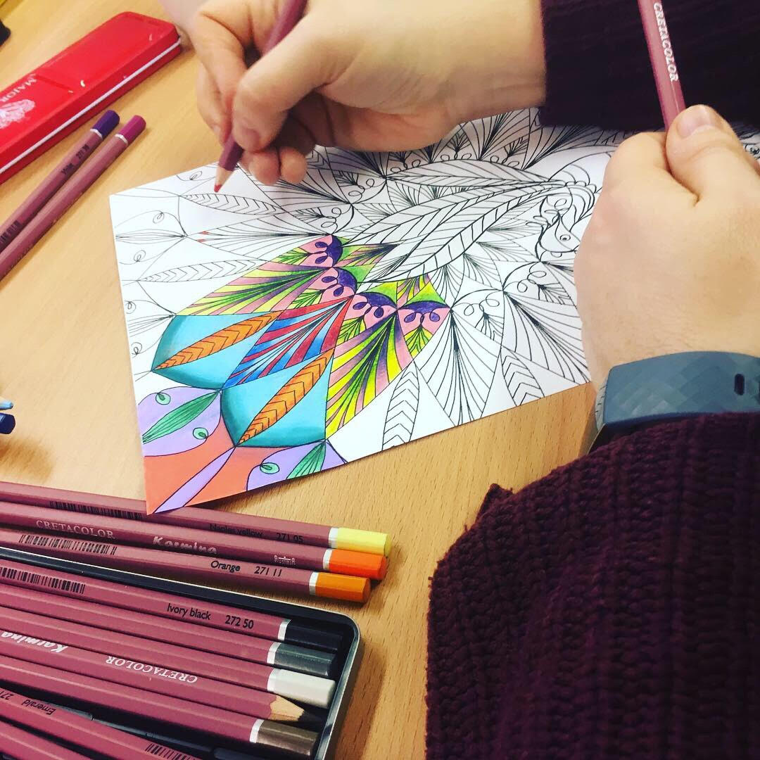 Adult Colouring Workshop - Tuesday 11th June 7.30pm - 9.30pmWe're welcoming the lovely Sarah Lovell to us to host a colouring workshop. Studies have shown that colouring can reduce stress and anxiety levels. Sit, chat and colour your evening away.£5 per person