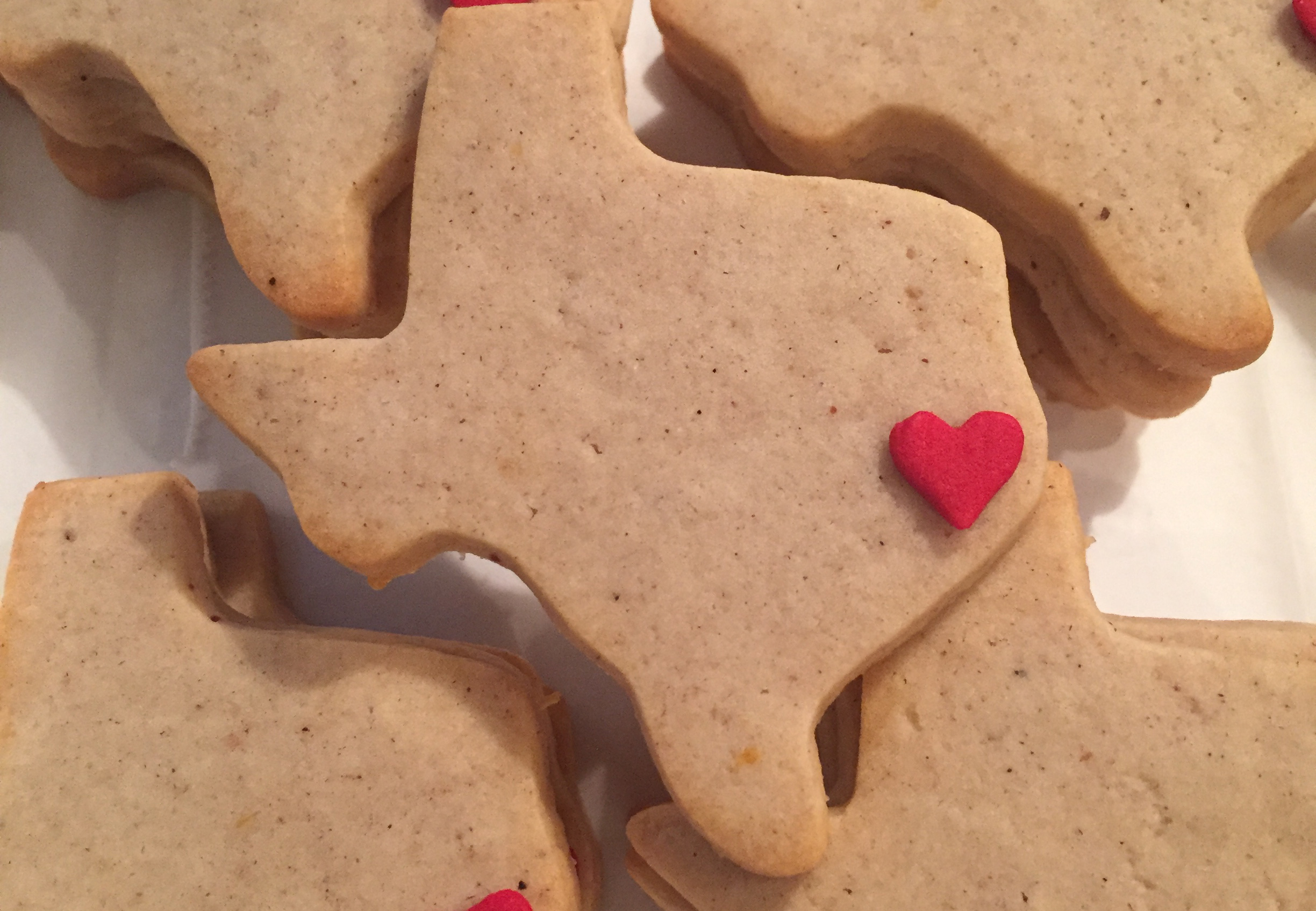 Texas Shaped, Spiced Roll-out Sugar Cookies