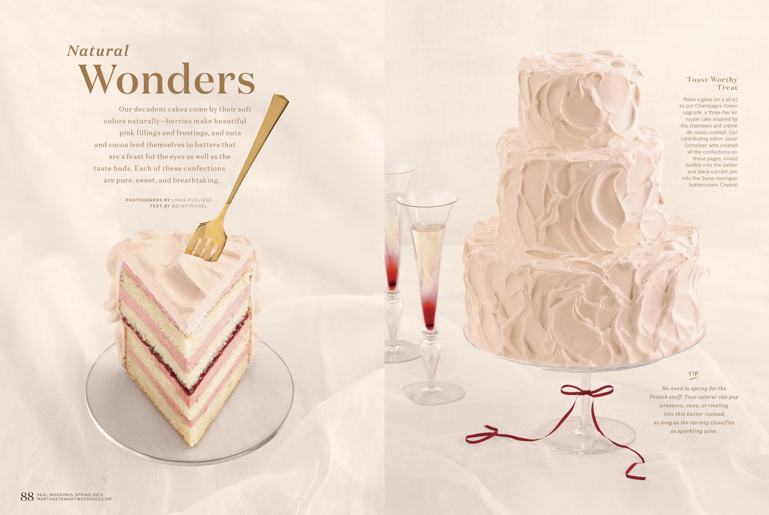 Kir Royale Wedding Cake, Martha Stewart Weddings