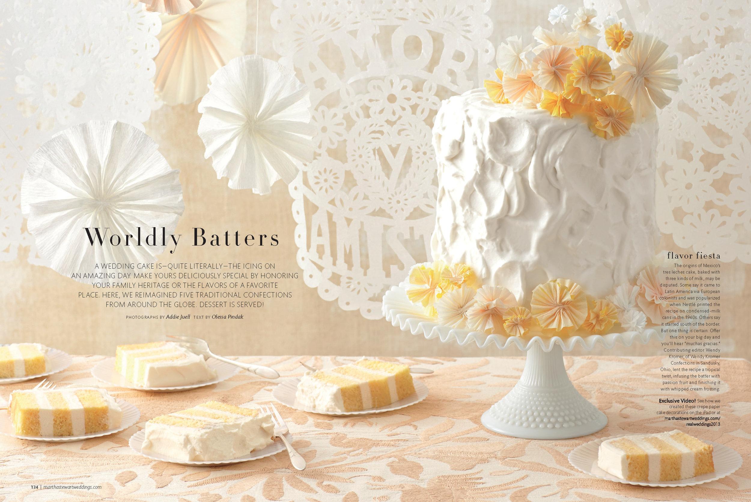 Tres Leches Wedding Cake, Martha Stewart Weddings