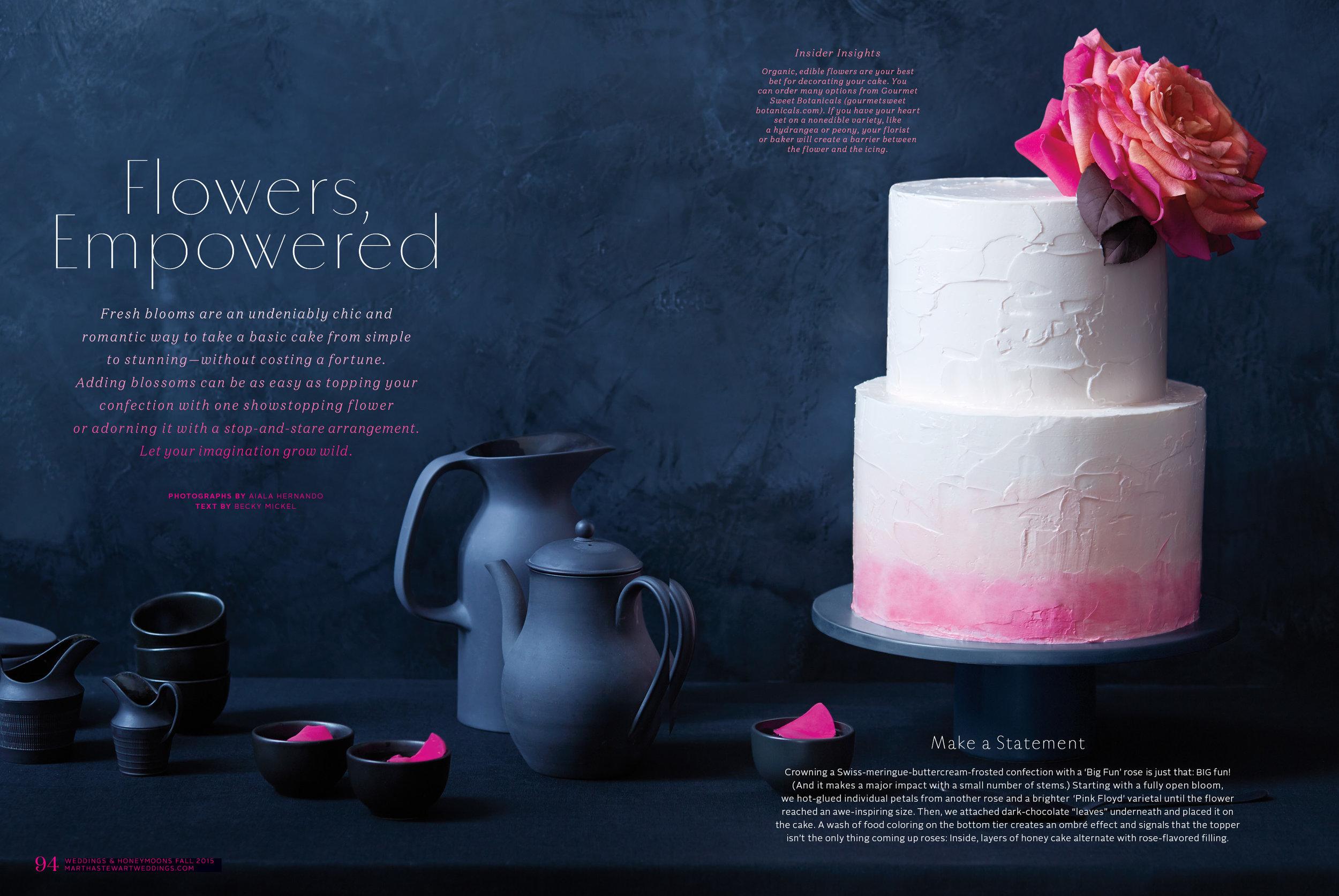 Floral Wedding Cake, Martha Stewart Weddings