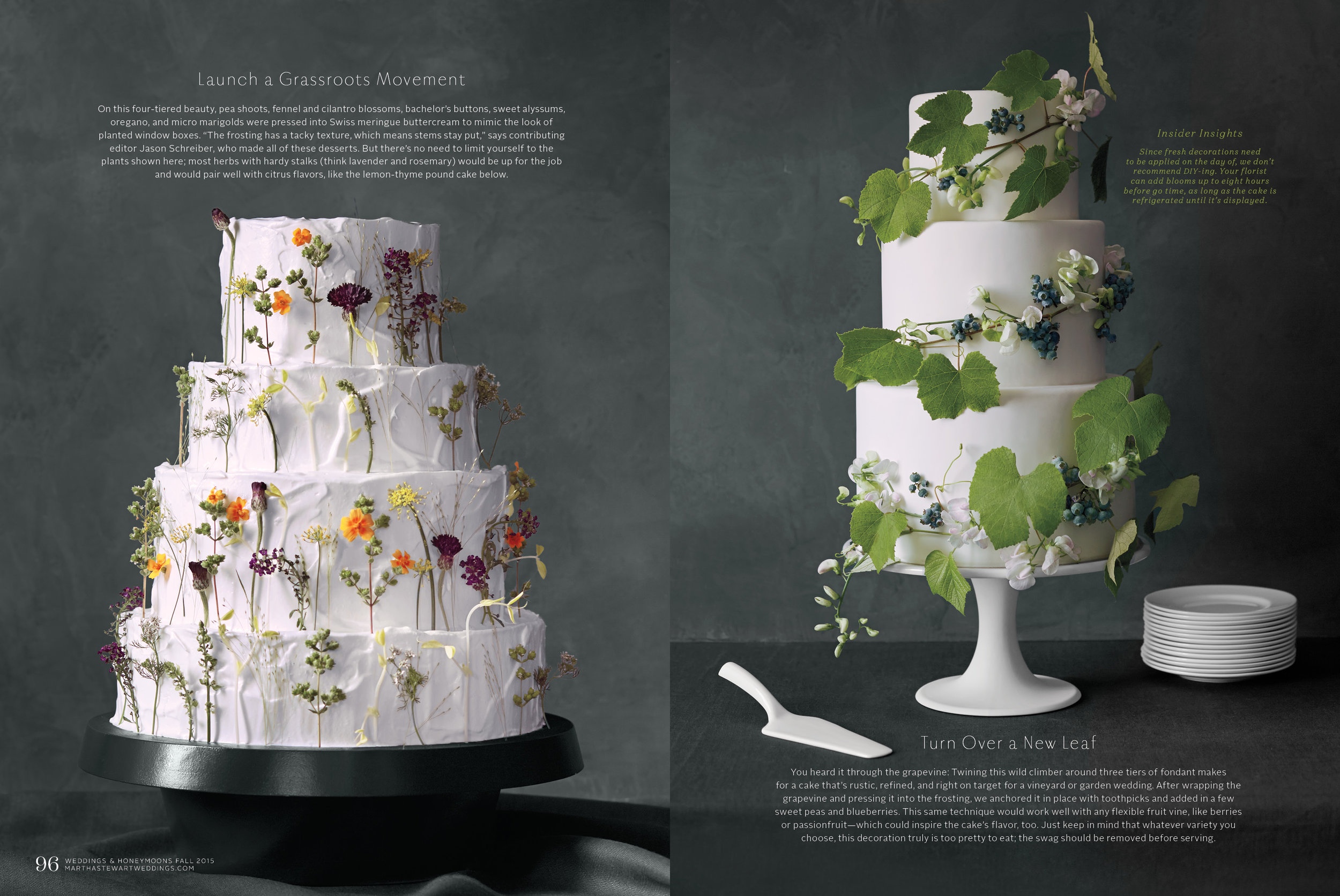 Floral Wedding Cakes, Martha Stewart Weddings