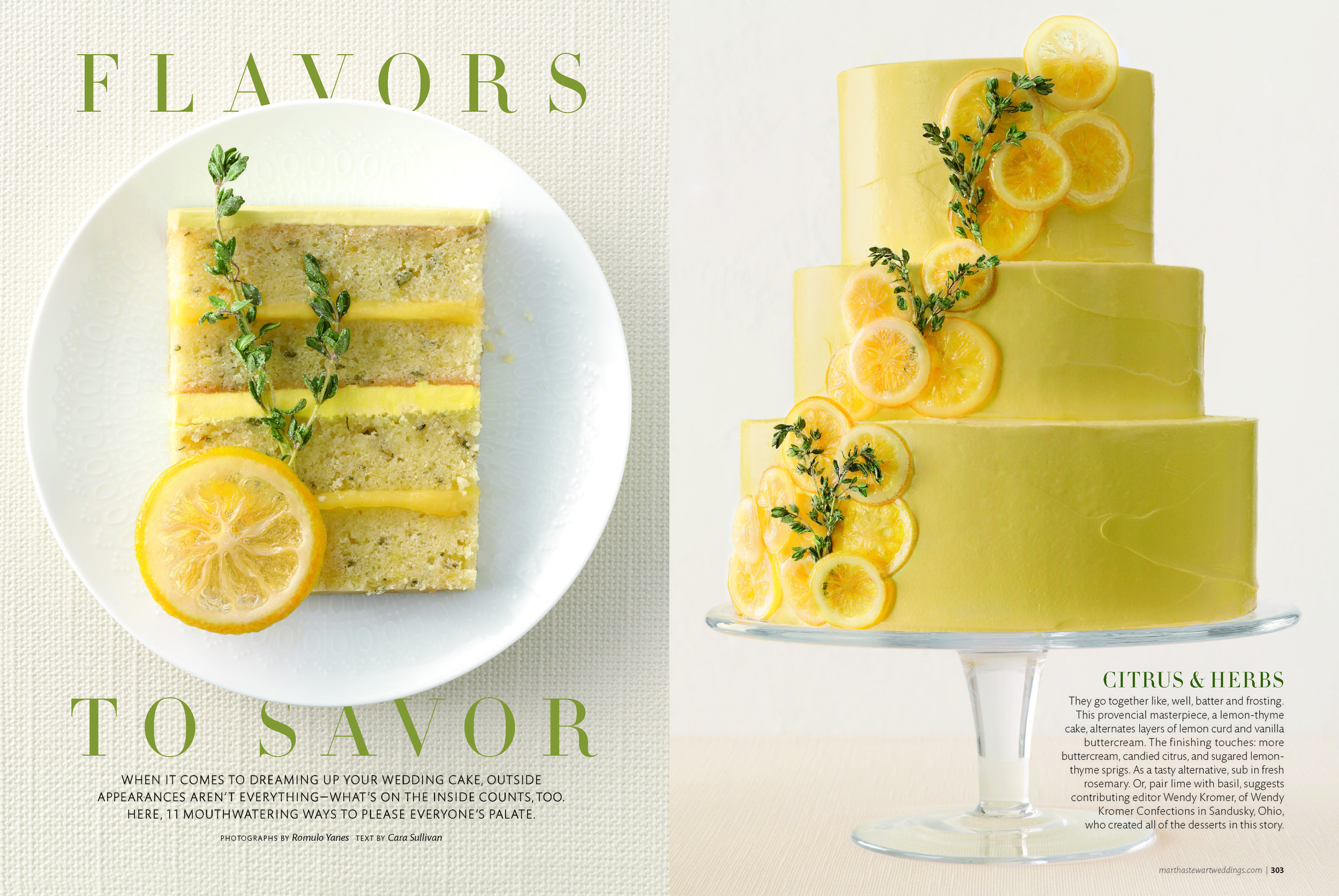 Lemon Thyme Pound Cake, Martha Stewart Weddings