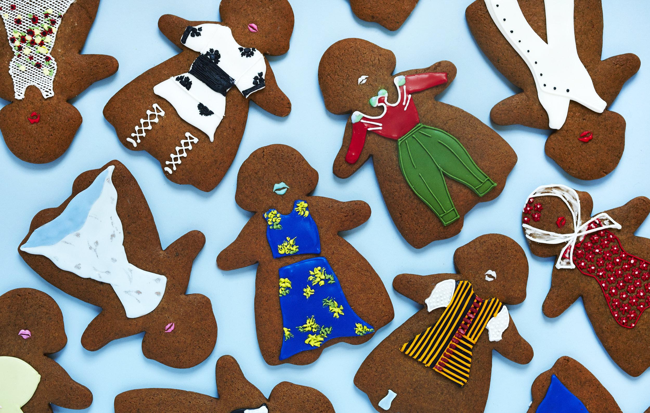 Runway Look Gingerbread Cookies, Vogue