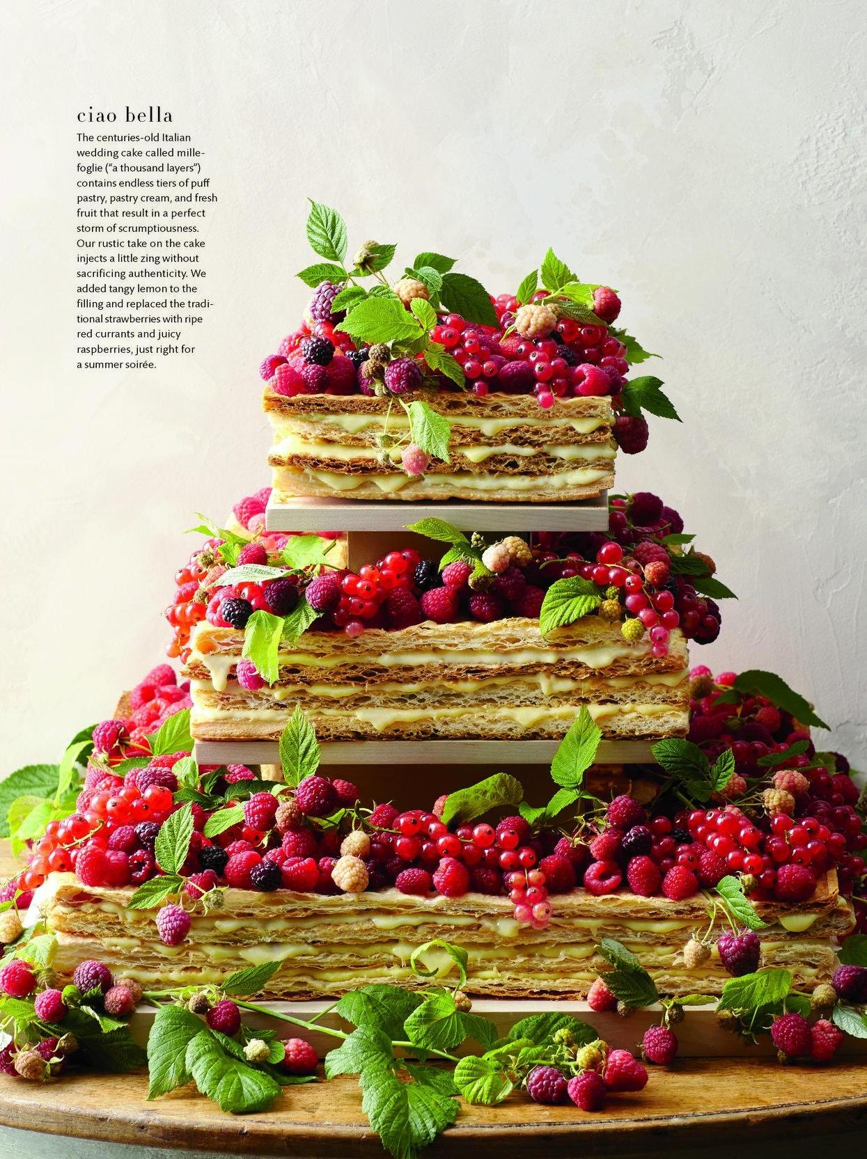 Wild Berry Mille Foglie, Martha Stewart Weddings