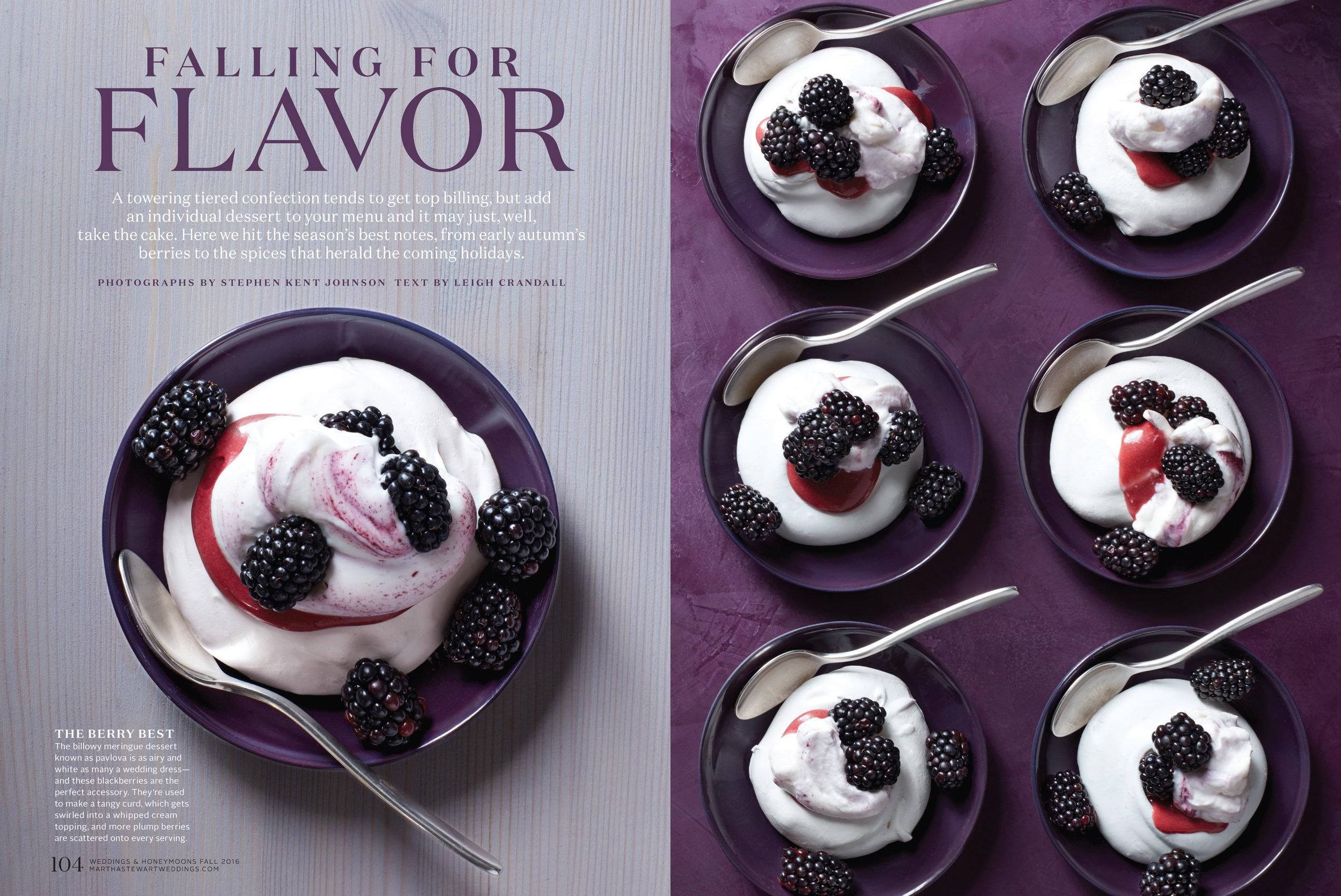 Blackberry Pavlovas, Martha Stewart Weddings