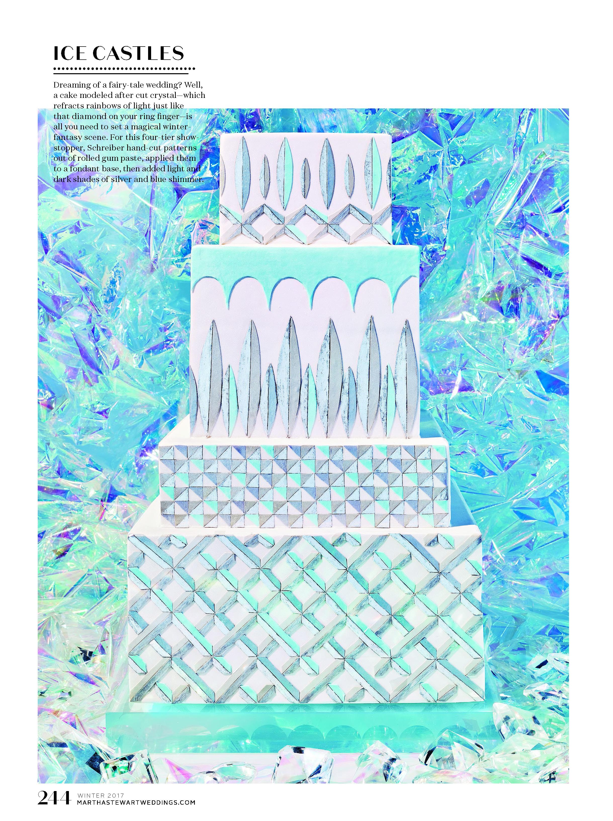 Cut Crystal Inspired Cake, Martha Stewart Weddings