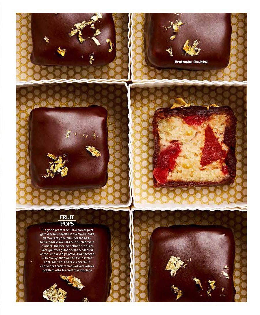 Chocolate Covered Fruitcake Bites, Martha Stewart Living