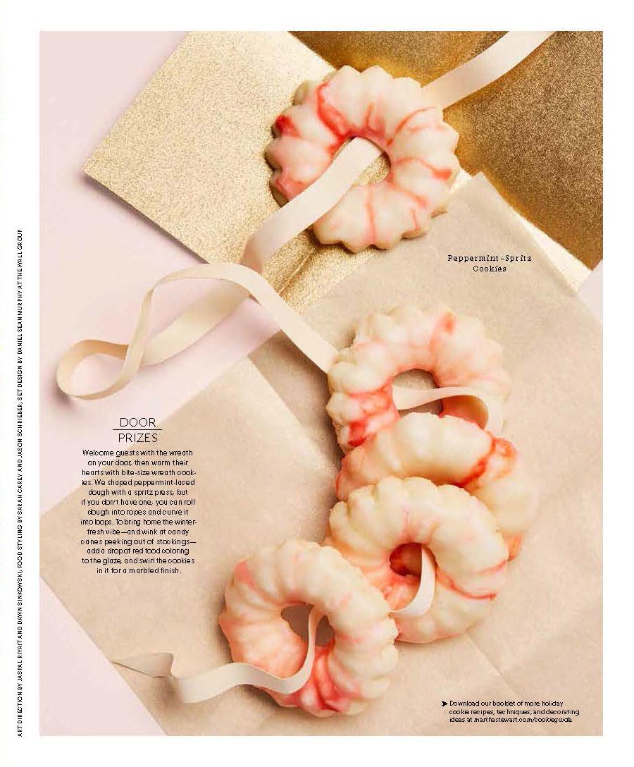 Peppermint Wreath Cookies, Martha Stewart Living