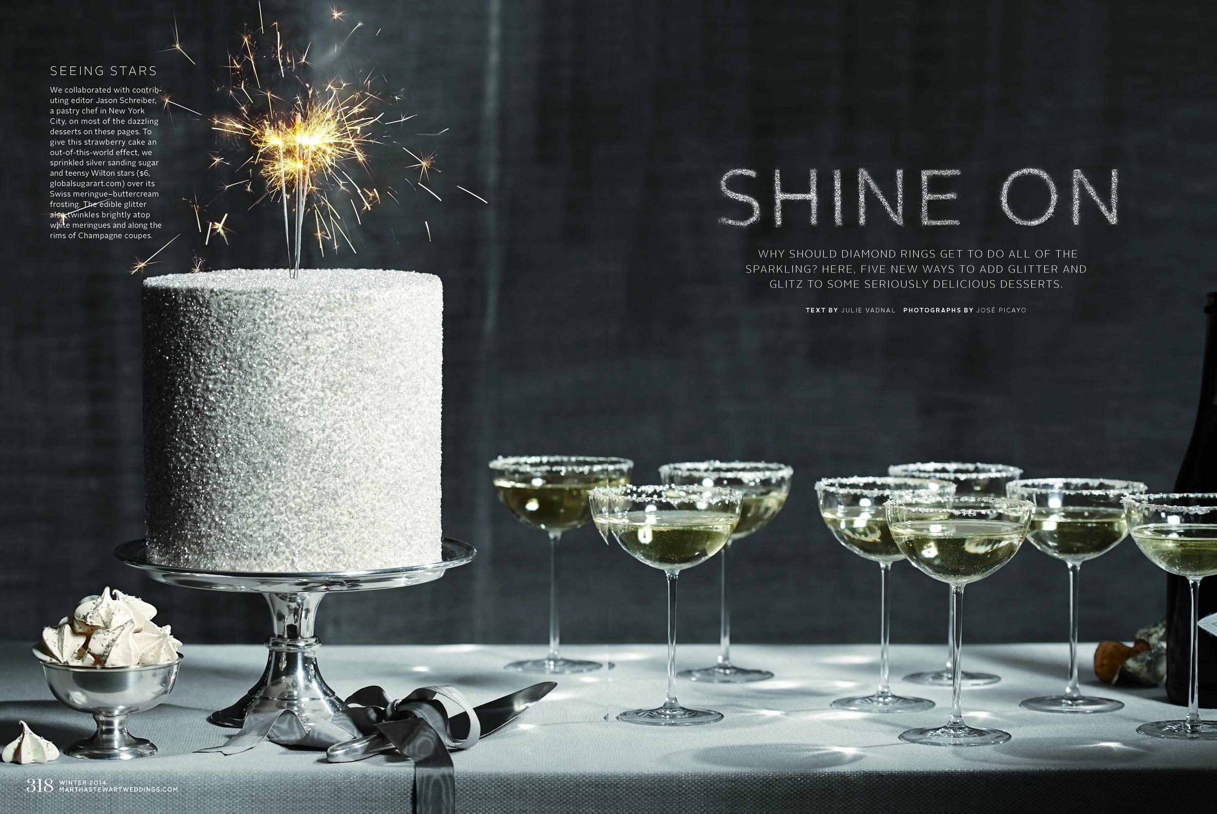 Sparkling Sugar Cake, Martha Stewart Weddings