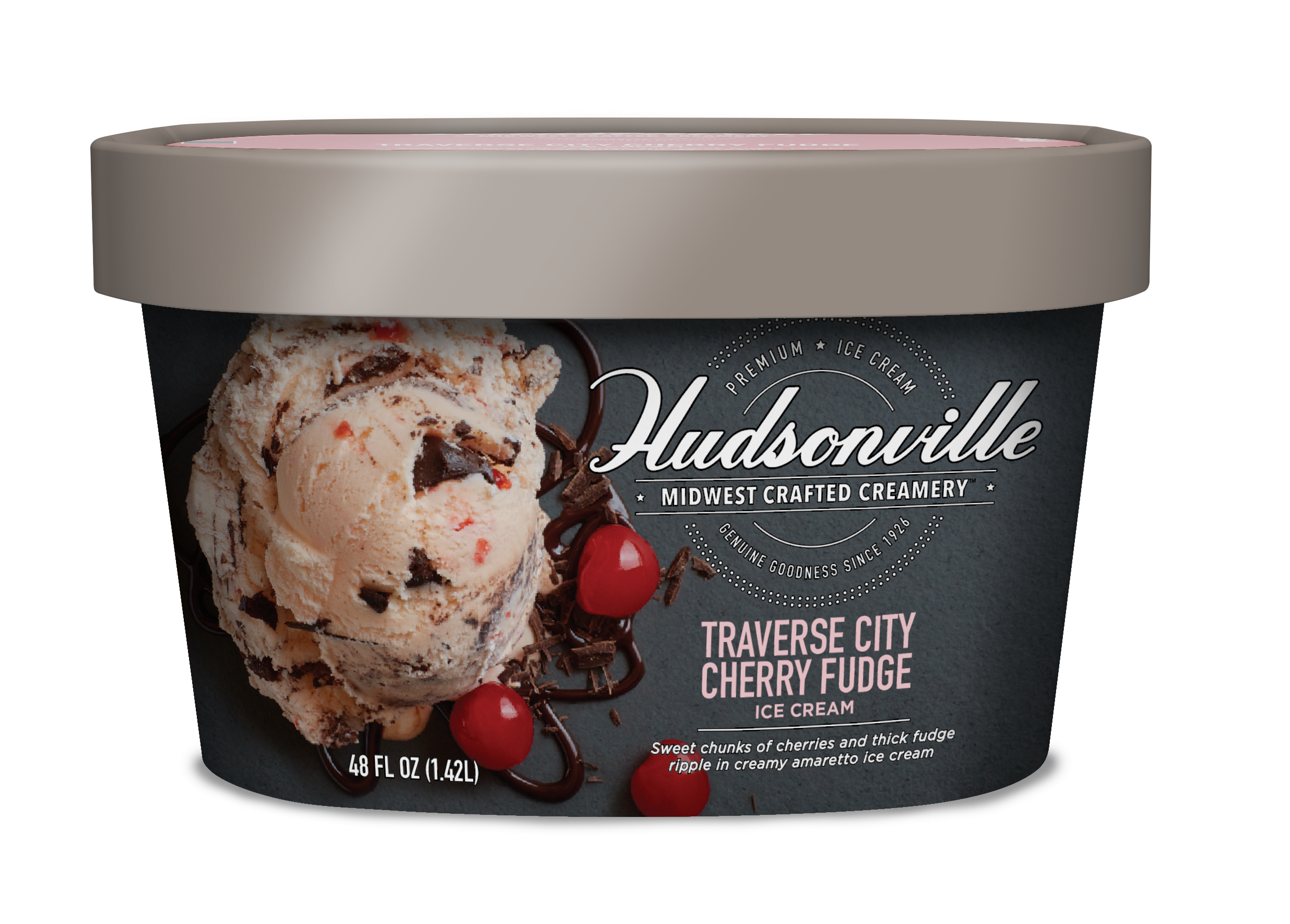 Hudsonville Ice Cream Traverse City Cherry Fudge
