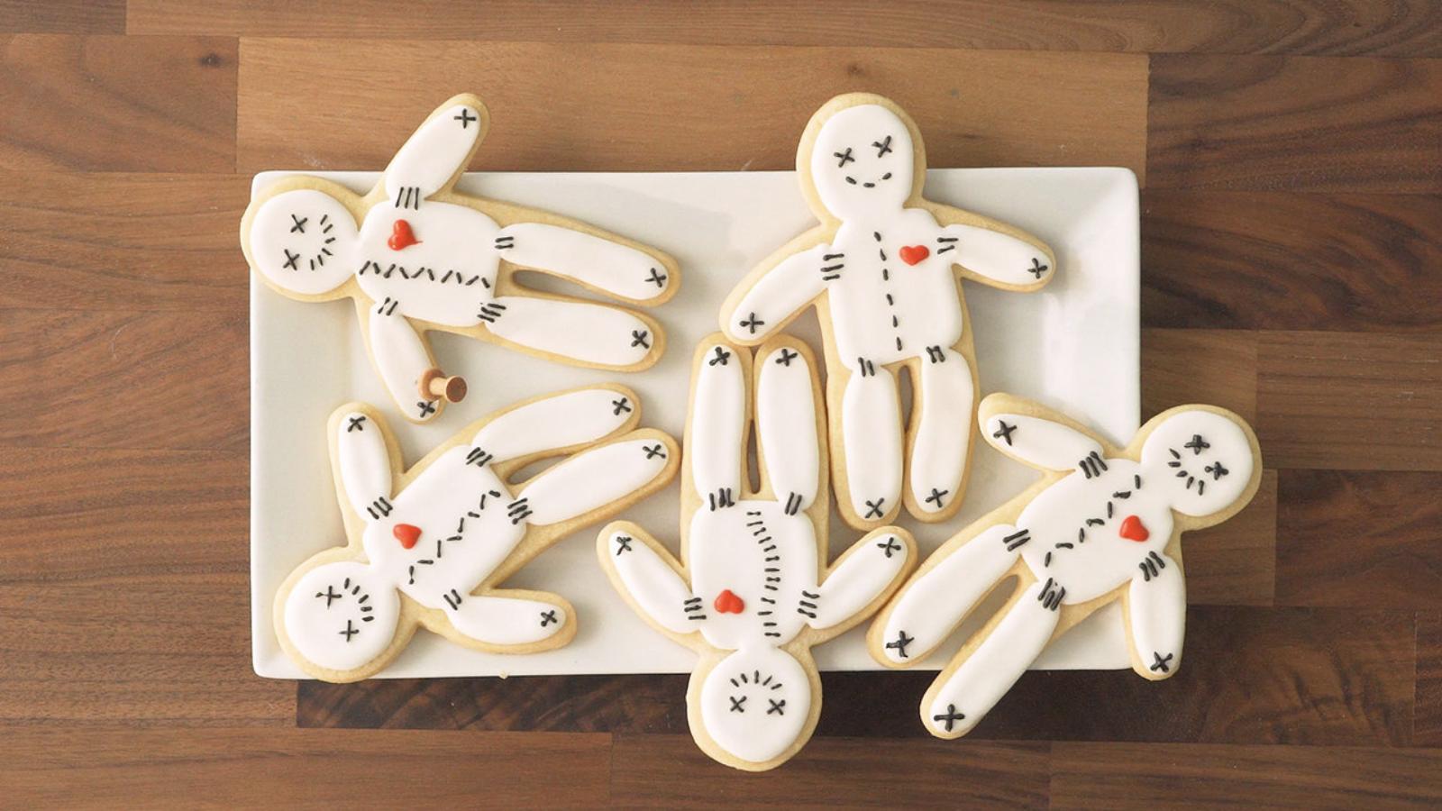 Voodoo Doll Sugar Cookies: Real Simple