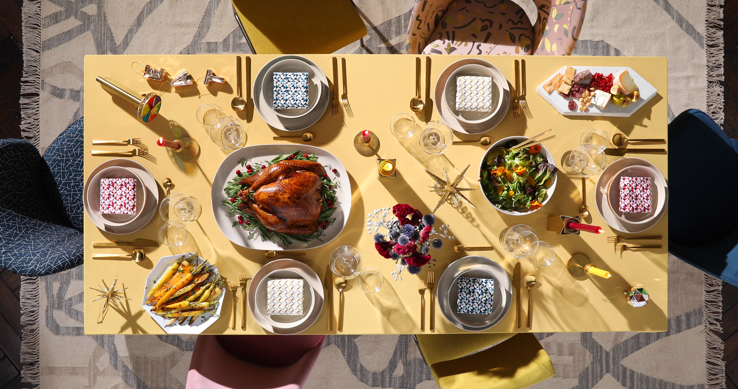 Holiday Table for West Elm