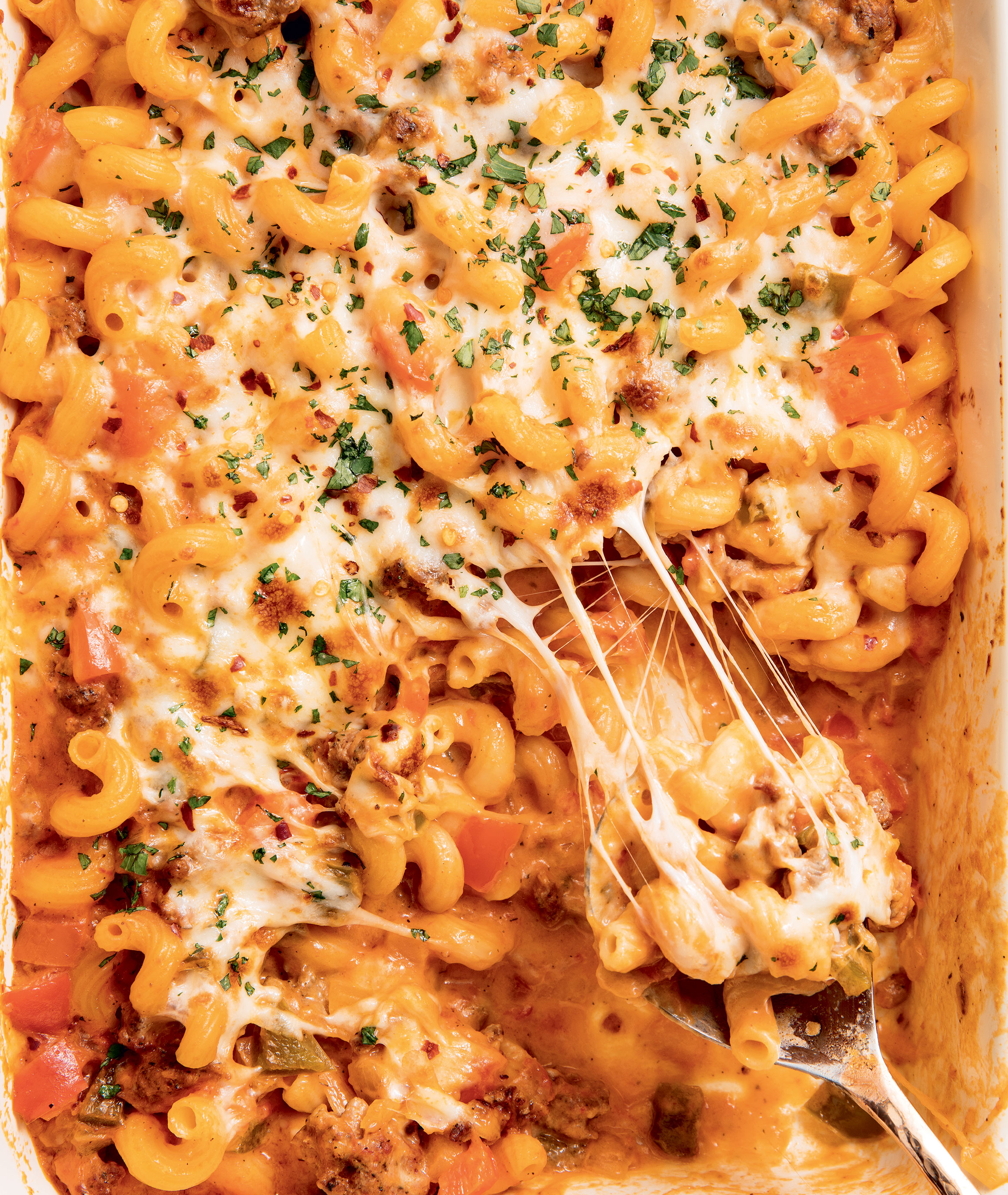 Baked Italian Mac and Cheese (Delish Cookbook), Photo by Ethan Calabrese
