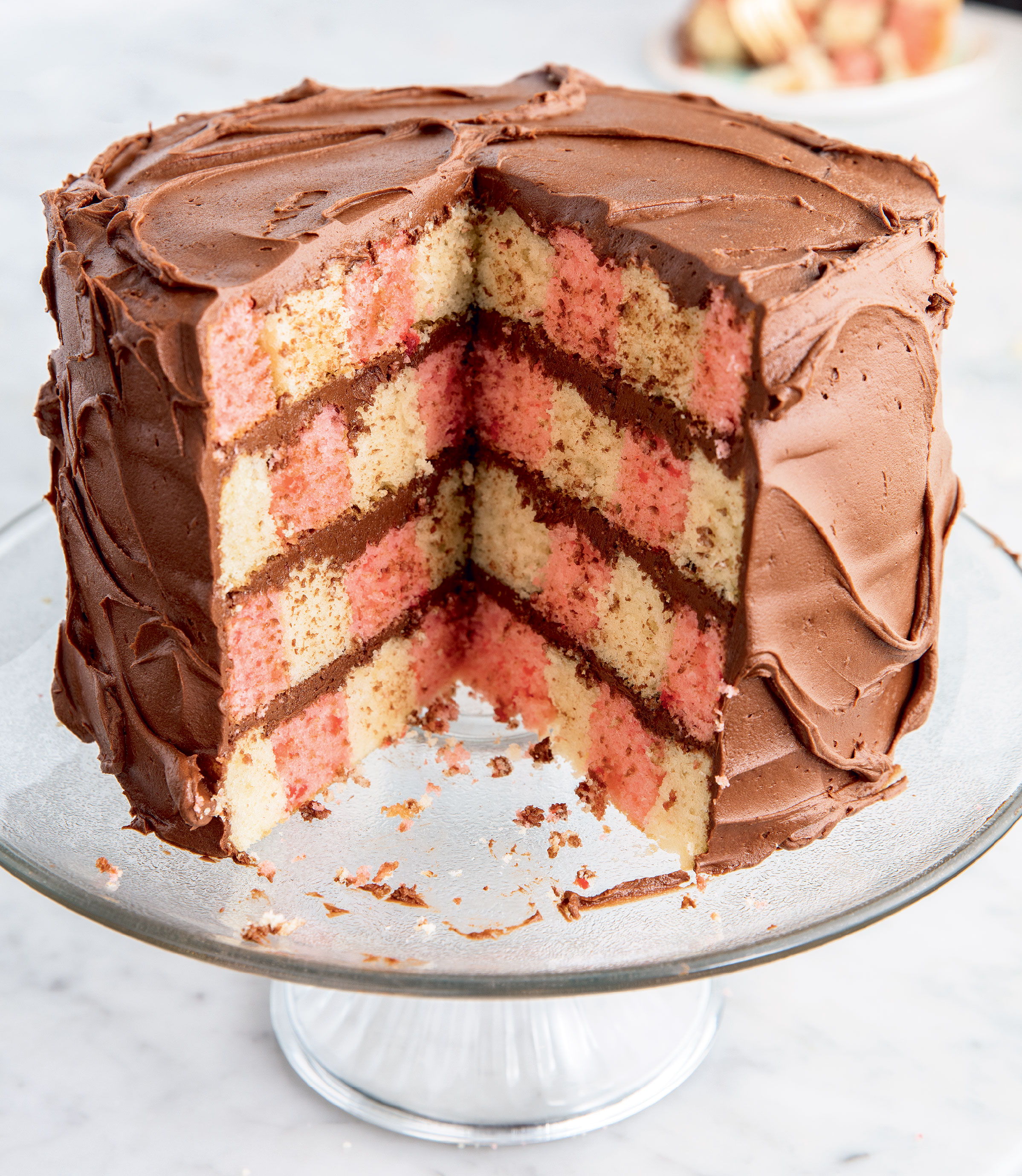 Checkerboard Cake, Photo by Ethan Calabrese