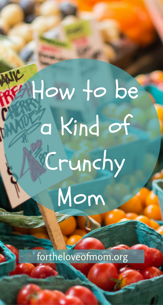 How to be a Kind of Crunchy Mom