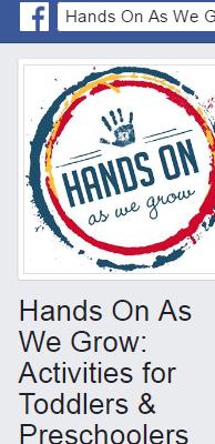 Hands On As We Grow: Activities for Toddlers & Preschoolers