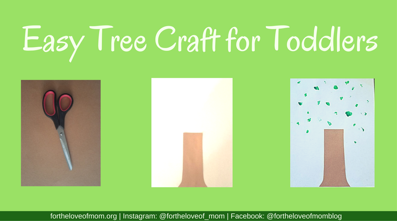 Easy Tree Craft for Toddlers | Toddler Activities | Projects for Toddlers | Tree Activity for Toddlers | Playschool Activities for Toddlers | #toddleractivity | #toddlers | #playschool | www.fortheloveofmom.org