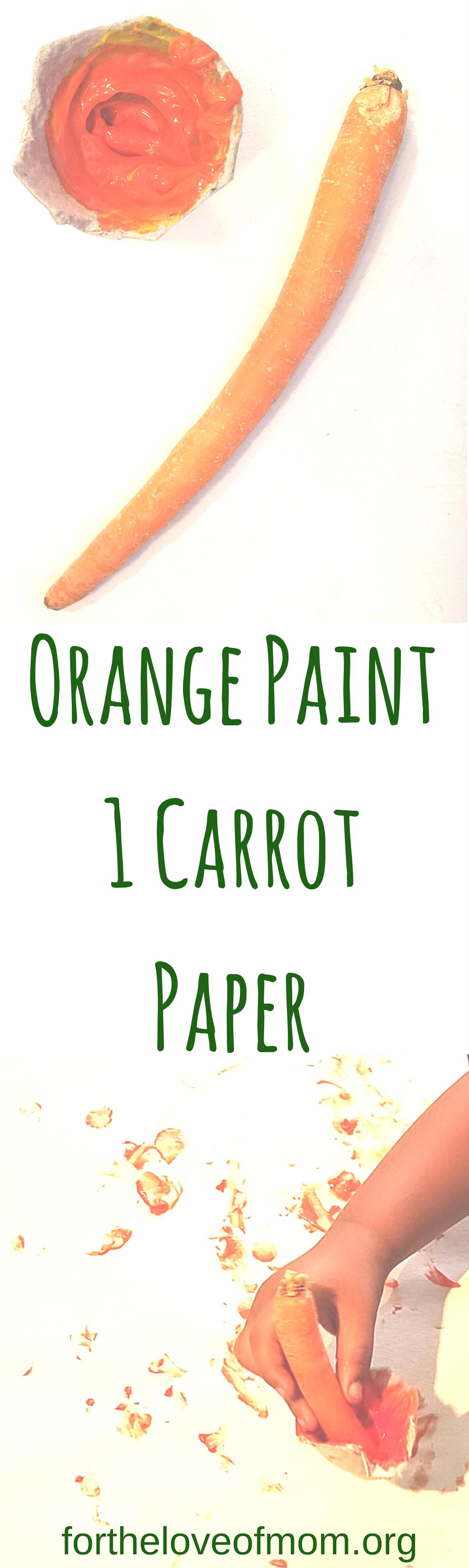 Veggie Crafts for Toddlers | Veggie Activities for Preschoolers | Carrot Painting | Veggie Painting | #toddlers | #preschoolers | #