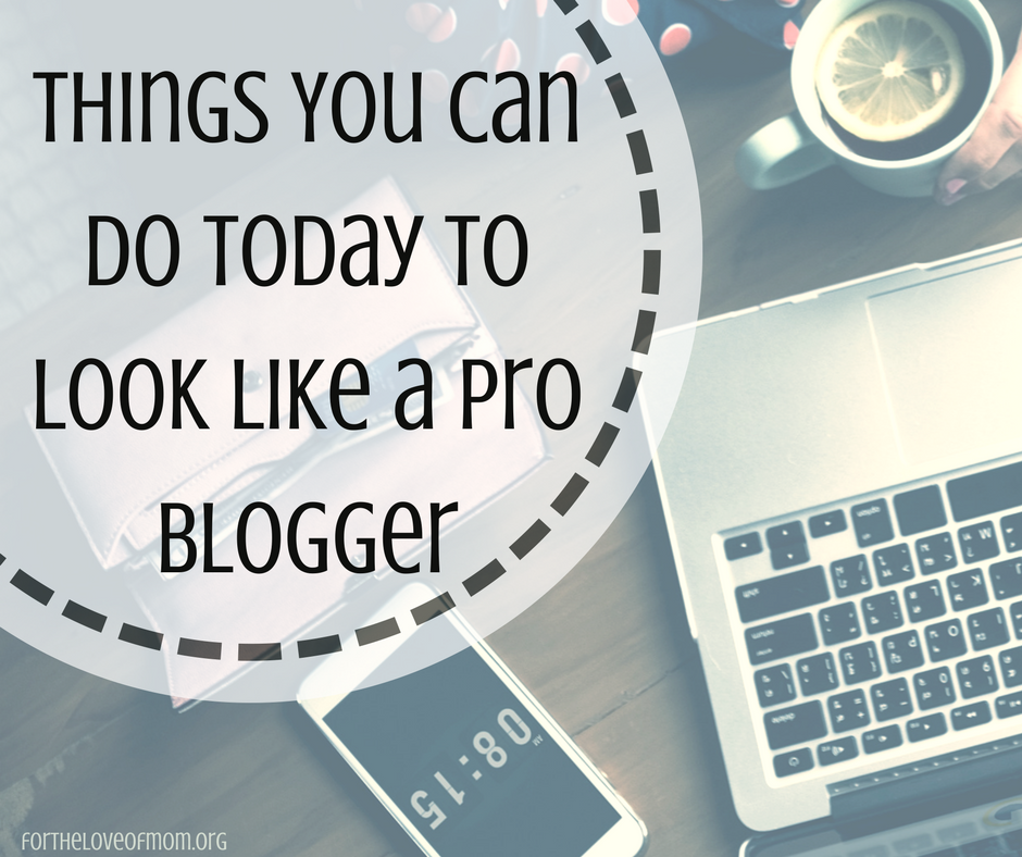 Look Like a Professional Blogger | Blogging Help | Blogging Tips | Advice for Bloggers | Tips for New Bloggers | www.fortheloveofmom.org