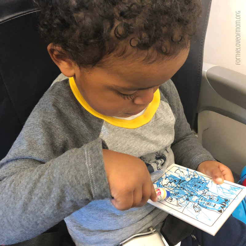 Airplane Friendly Toys for Toddlers | Mess Free Coloring Books | www.fortheloveofmom.org.png