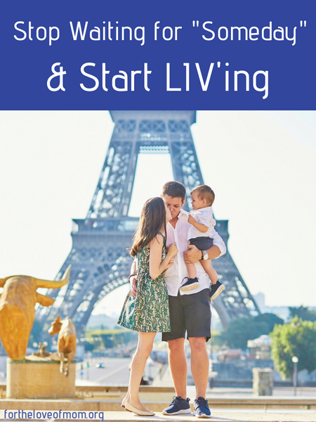 Do you have a Bucket List of things you'd like to do _someday - Stop waiting for someday and start LIV'ing TODAY!  #livlist #bucketlist #familytravel - www.fortheloveofmom.org