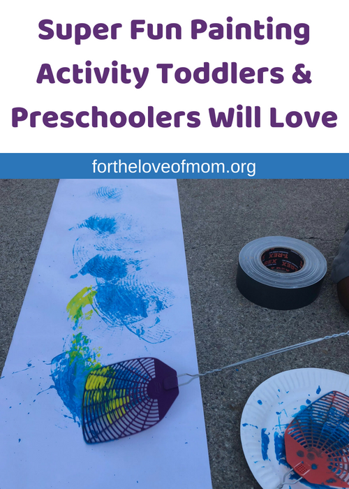 If your toddler or preschooler loves painting activities, you've got to try fly swatter painting. It's an easy craft for busy moms and your little one is guaranteed to love it! - fortheloveofmom.org.png