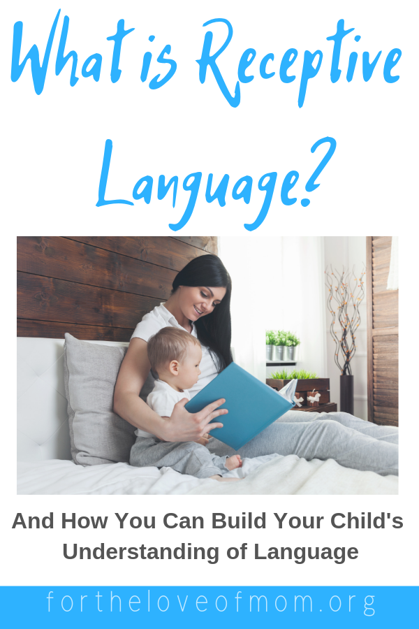 What is receptive language and how can parents build their toddler or preschoolers understanding of language. #parenting #momlife #toddlers #preschoolers #speechtherapy - www.fortheloveofmom.org
