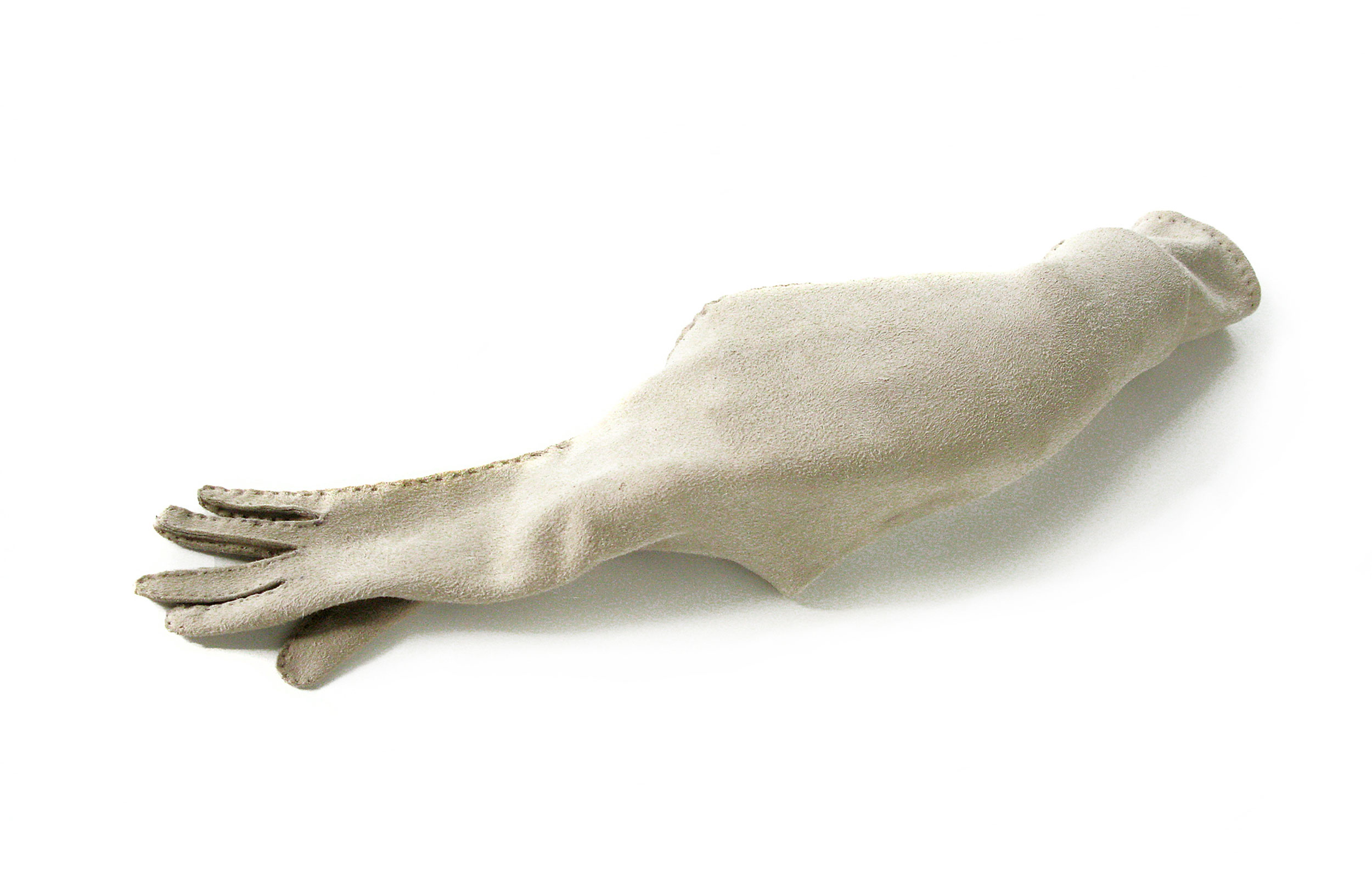 NOT CLEVER BUT AMBITIOUS , 2012. Glove leather, thread, mannequin hand; 14 x 6 x 3 inches