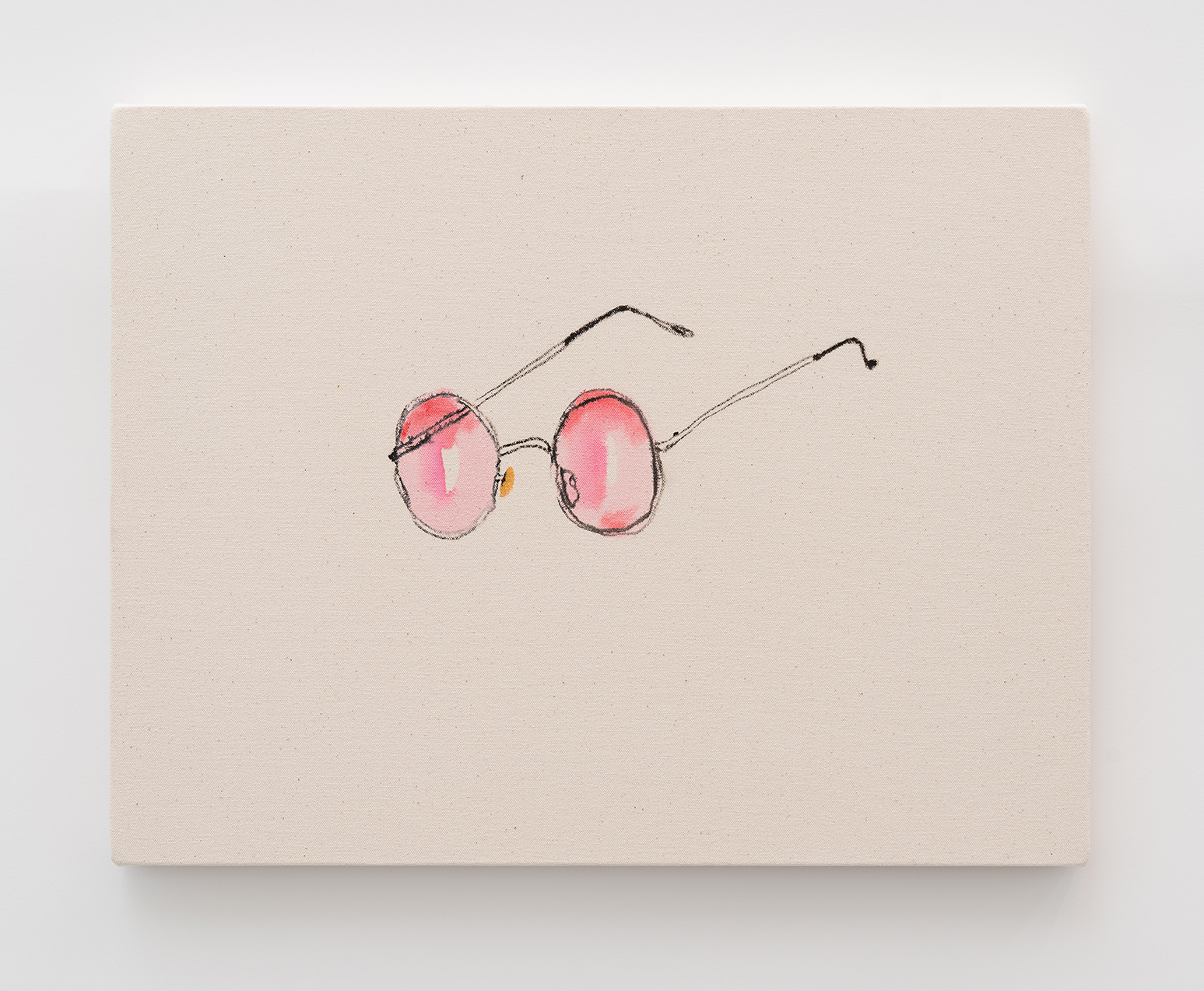 Rose-tinted Glasses, 2018  ink and pigment on canvas